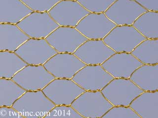 Brass Hexagonal Mesh