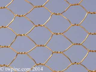 Bronze Hexagonal Mesh
