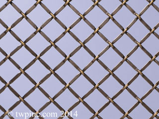 Diagonal Decorative Mesh
