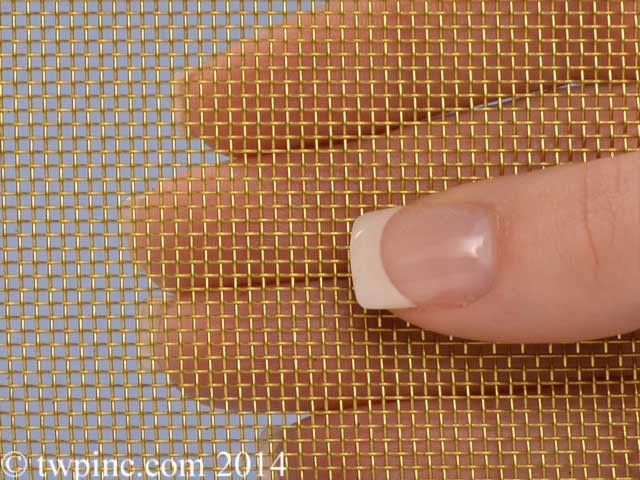 "16 Mesh Brass .018"" Wire Diameter 36"" Wide Screen"