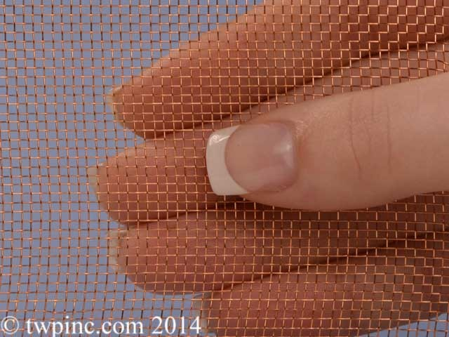 "16 Mesh Copper .011"" Wire Diameter 36"" Wide Screen"