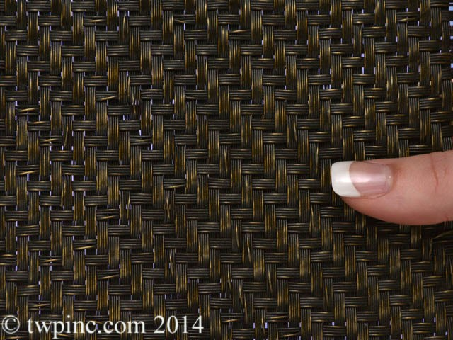 Del Rey Twill Antique Brass Flatewire Mesh