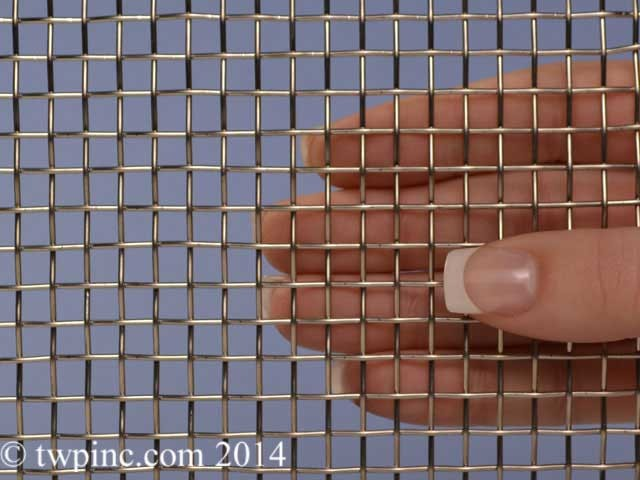 "4 Mesh Stainless Steel T316 .047 Wire Diameter 48"" Wide Screen 18 Gauge"