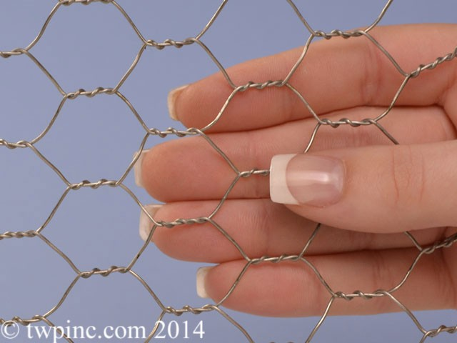 3/4 Inch Stainless Hex Mesh (20 Gauge)