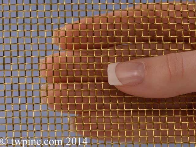 "8 Mesh Brass .028"" Wire Diameter 36"" Wide Screen 22 Gauge"