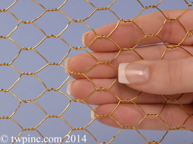 "1/2"" Bronze Hex,Chicken Wire Mesh. 90% Copper 10% Zinc"