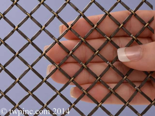 "Orleans Antique Brass Plated 1/2"" Wire Mesh"