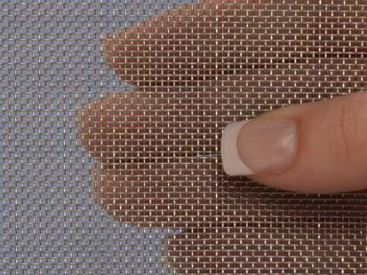 """304 Mesh #2 .063 Stainless Steel Wire Mesh 6/""""x 24/"""" Stainless Steel Mesh Crimped"""
