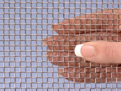 """Stainless Steel 304 Mesh #8 .035 Wire Cloth Screen 18""""x36"""""""